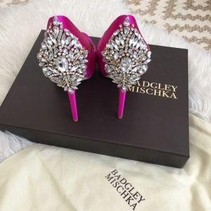 "Badgley Mischka ""Kiara"" satin pump in pink"